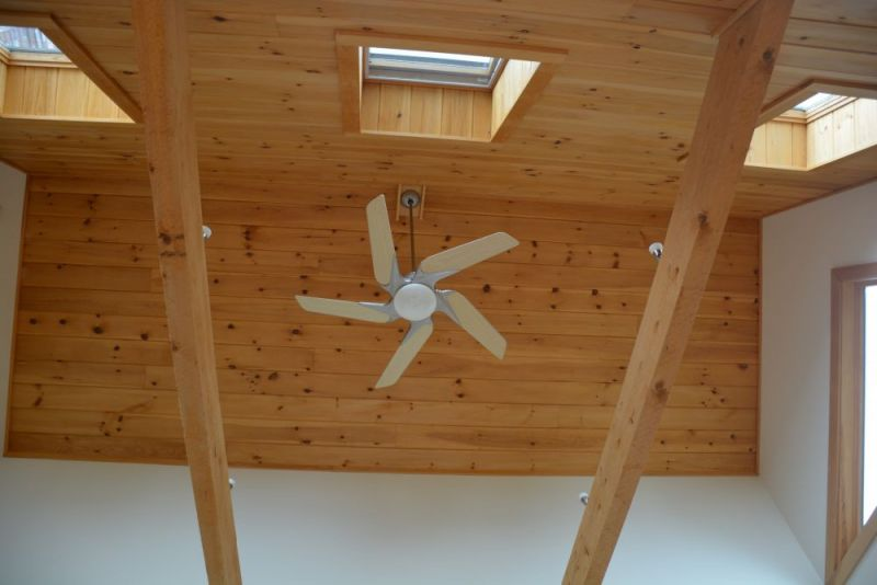 Bedroom Cathedral Ceiling With Star Fan